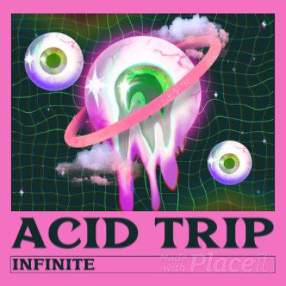 Instagram Post Video Maker for an Acid Music Promo 2675