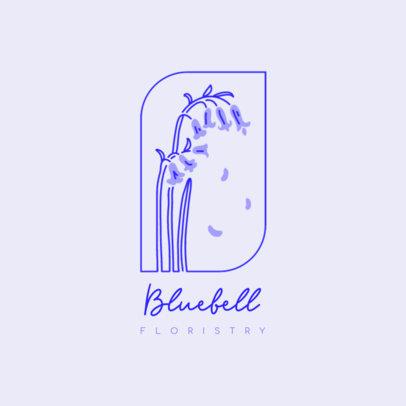 Logo Maker for Flower Shops Featuring a Minimal Illustration 4009c