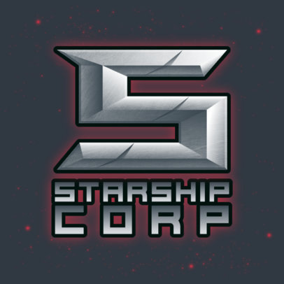 Monogram Logo Creator with a Space-Theme for Gamers 4003e