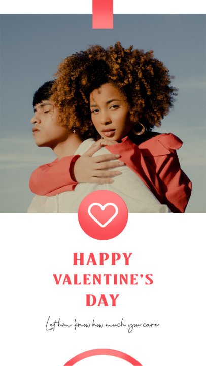 Instagram Story Template Featuring Valentine's Day Dedications 3434-el1