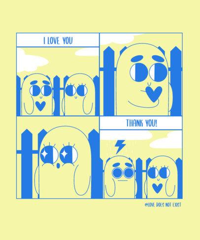 Anti Valentine's Day T-Shirt Design Maker Featuring a Funny Comic Strip 3353f