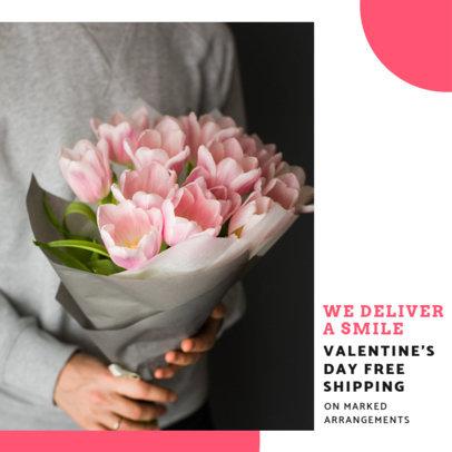 Instagram Post Design Template for Valentine's Day Flower Deals 3436d-el1
