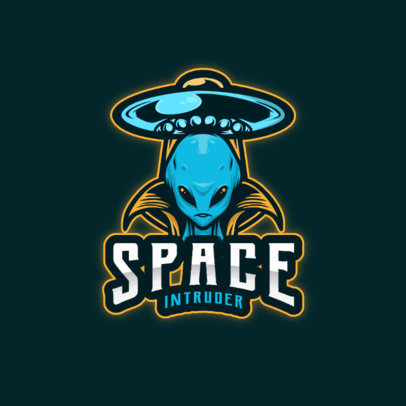 Alien-Themed Gaming Logo Creator with a UFO Graphic 3422a-el1