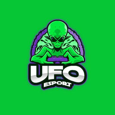 eSports Logo Template Featuring an Alien Gamer 3422b-el1