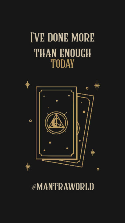 Illustrated Instagram Story Template Featuring a Quote and Esoteric Cards 3340c