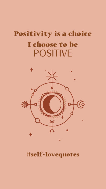Instagram Story Generator With a Positive Message and a Mystical Moon Clipart 3340g