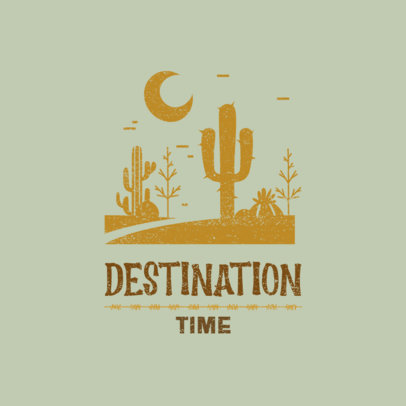 Outdoor Logo Creator with a Graphic of a Desert Landscape 4018m