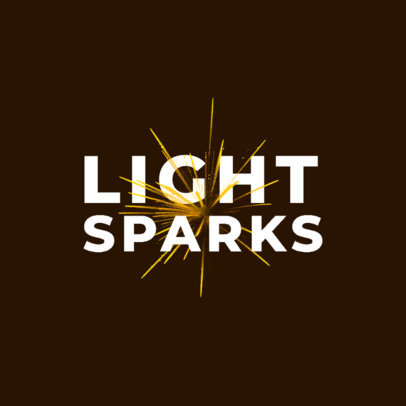 Typography Logo Generator Featuring Light Sparks 4030d