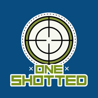 Sticker Design Generator with a Shooting Target Graphic 3448b-el1