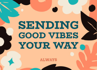 Greeting Card Maker Featuring Good Vibes and a Quote 3351f