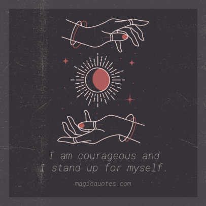 Instagram Post Maker Featuring a Quote and a Mystical Illustration 3341e