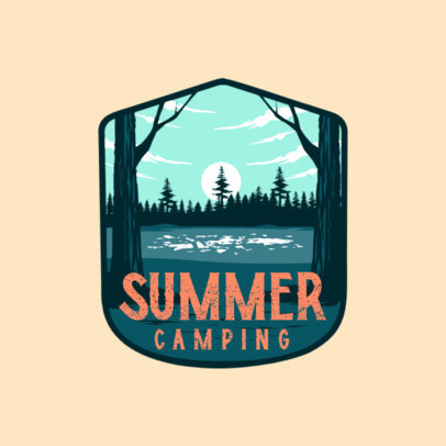 Logo Maker for a Summer Camp Featuring a Lake Illustration 4024c