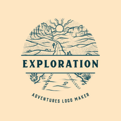 Logo Template for an Excursions Travel Agency 4020a