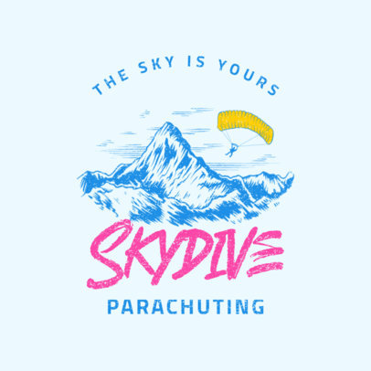 Adventure Logo Maker for a Skydiving Company 4028f