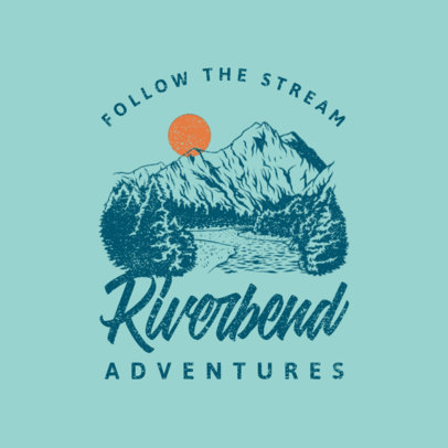 Logo Maker for an Adventure Travel Company Featuring a River Clipart 4028i