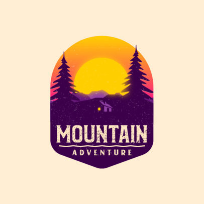 Illustrated Logo Maker for Travel Companies Featuring a Cabin in the Forest 4024f