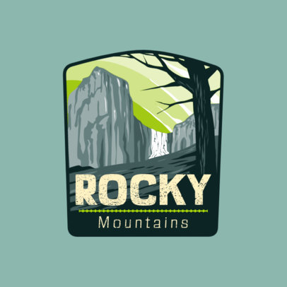 Outdoor Logo Generator Featuring a Natural Landscape Graphic 4024j