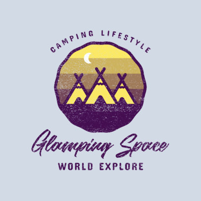 Outdoor-Themed Logo Generator for a Glamping Site 4028e