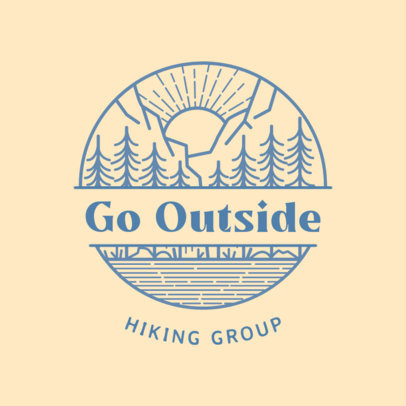 Logo Maker for a Hiking Group with an Outdoors Landscape 4020u