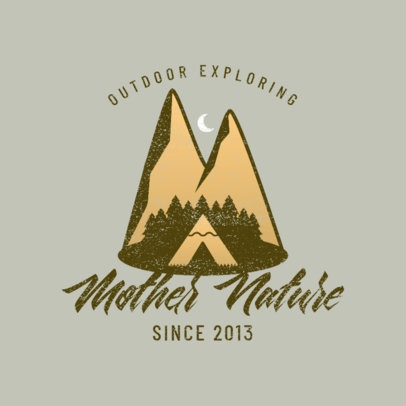 Adventure Travel Company Logo Template Featuring a Mountain Landscape 4028v