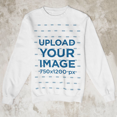 Mockup Featuring a Customizable Sweatshirt Placed on a Concrete Surface m1254