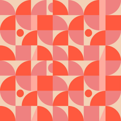 Seamless Print Pattern Design Template with Geometric Shapes 3363