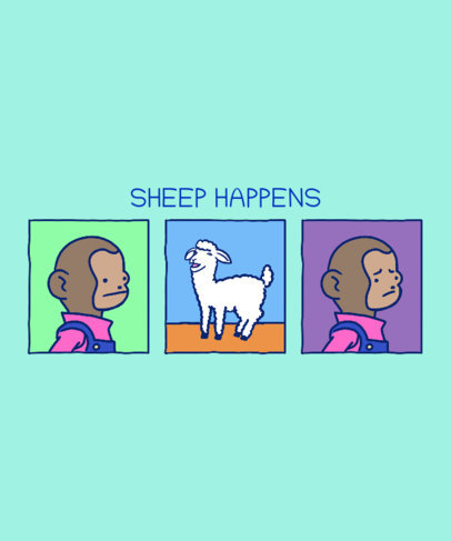 Illustrated T-Shirt Design Maker with Sarcastic Humor Vignettes 3354i