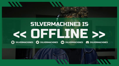Twitch Offline Banner Design Template with a Gamer Aesthetic 3367d