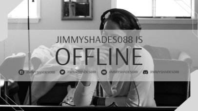 Twitch Offline Banner Creator with a Modern Frame and a Minimal Style 3367b