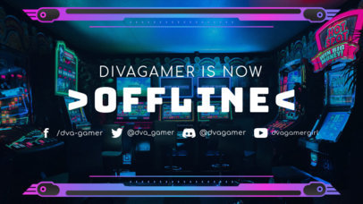 Twitch Offline Banner Maker Featuring a Cool Style 3372