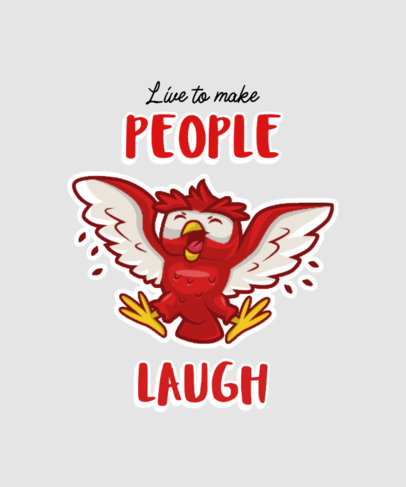 Cartoonish T-Shirt Design Template with a Funny Owl Graphic 3468d-el1
