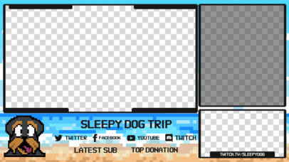 OBS Stream Overlay Maker for a Retro Gaming Channel Featuring a Dog Graphic 3368f