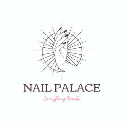 Online Logo Template for a Nail Boutique Featuring a Hand Drawing 4046H