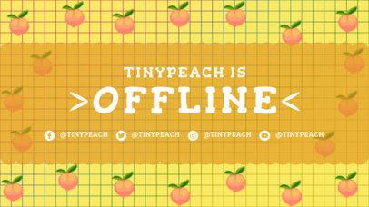 Twitch Offline Banner Template Featuring 8-bit Peach Graphics 3369a