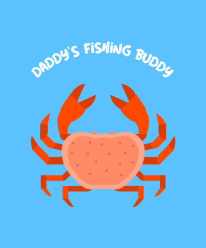 Fishing T-Shirt Design Maker Featuring a Crab Clipart 755a-el1