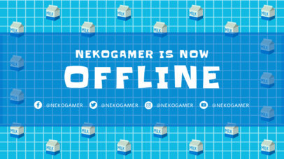 Retro Twitch Offline Banner Generator with a Pixel-Art Pattern 3369b