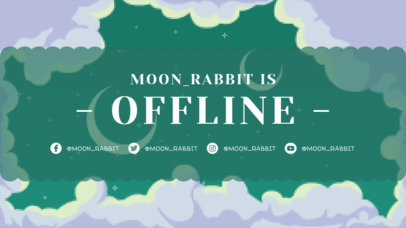Twitch Offline Banner Creator Featuring a Retro Illustrated Sky 3369d