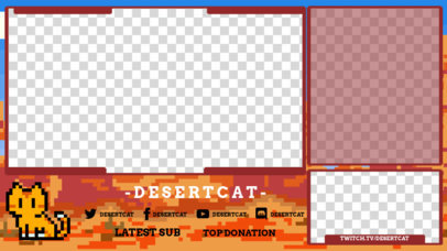 Twitch Overlay Template With a Retro 8-Bit Aesthetic 3368e