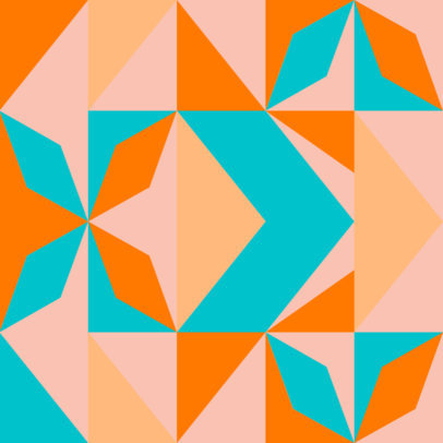 Geometric Print Patter Creator Template with a Seamless Design 3363g