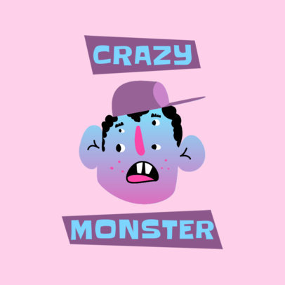 Fun Logo Maker for a Clothing Brand Featuring a Friendly Monster 4040b