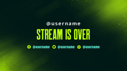 Gaming Twitch Offline Banner Design Maker with a Gradient Background 3364a