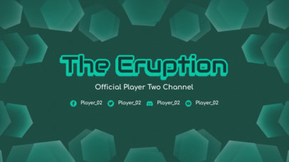 Twitch Banner Generator for Gamers Featuring a Geometric Frame 3365a