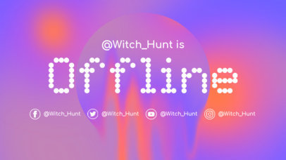 Colorful Twitch Offline Banner Template Featuring a Dotted Font 976f-3366