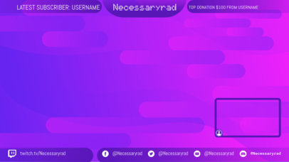 OBS Stream Overlay Template for Gamers Featuring a Simple Webcam Frame 3366b
