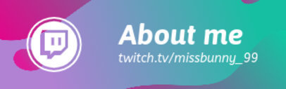 Twitch Panel Template Featuring a Liquid Colorful Background 3366d