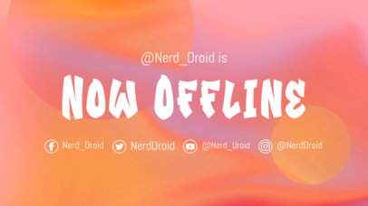 Twitch Offline Banner Generator Featuring a Vibrant Background 976g-3366