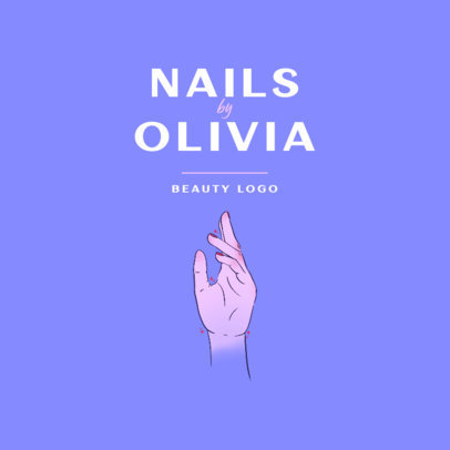 Logo Template for Nail Salons Featuring a Feminine Hand Graphic 4044b