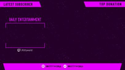 Twitch Overlay Design Creator with a Minimalist Grid 3364b