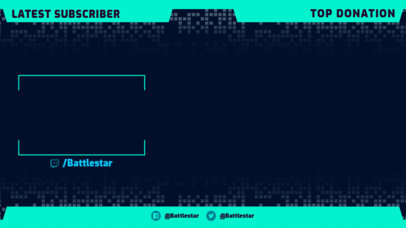Gaming Twitch Overlay Maker Featuring a Simple Webcam Frame 3364d