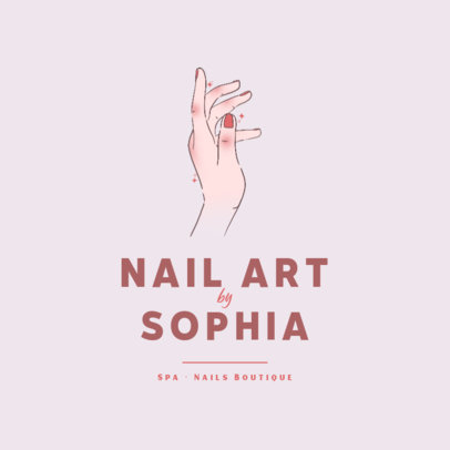 Logo Template for Nail Artists Featuring a Delicate Hand Illustration 4044e